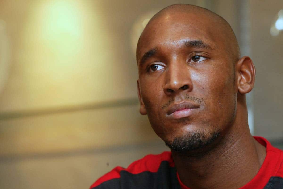 LIVERPOOL, ENGLAND - Monday, December 24, 2001: An early Christmas present for Reds fans as Liverpool unveil French striker Nicolas Anelka during a press conference at Anfield. (Pic by David Rawcliffe/Propaganda)
