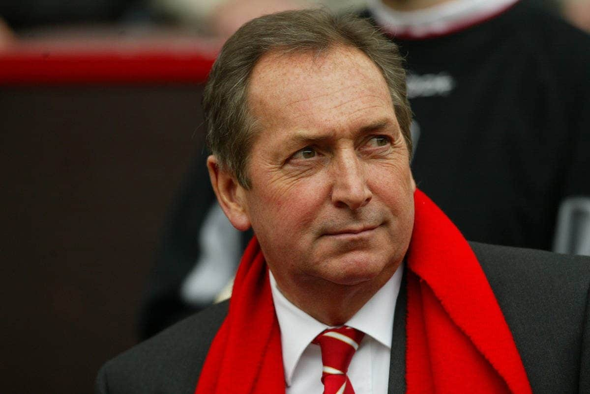 MANCHESTER, ENGLAND - Saturday, April 5, 2003: Liverpool's manager Ge?rard Houllier walks out to face Manchester United during the Premiership match at Old Trafford. (Pic by David Rawcliffe/Propaganda)