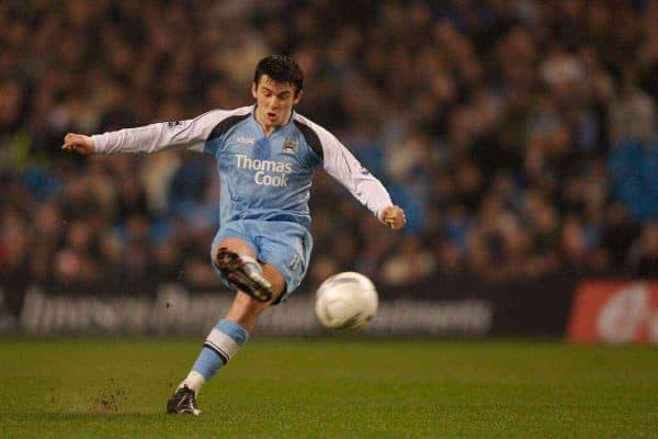 Manchester, England - Tuesday, January 16, 2007: Manchester City's Joey Barton in action against Sheffield Wednesday during the FA Cup 3rd Round Replay at the City of Manchester Stadium. (Pic by David Rawcliffe/Propaganda)