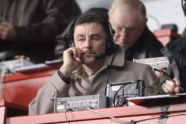 Liverpool, England - Saturday, February 3, 2007: Liverpool's former striker John Aldridge working for local radio during the Merseyside Derby Premiership match at Anfield. (Pic by David Rawcliffe/Propaganda)