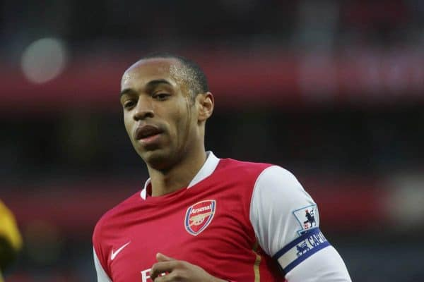 London, England - Sunday, February 11, 2007: Arsenal's Thierry Henry gutted against Wigan Athletic  during the Premiership match at the Emirates Stadium. (Pic by Chris Ratcliffe/Propaganda)