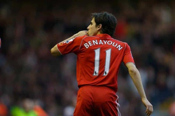 LIVERPOOL, ENGLAND - Saturday, January 26, 2008: Liverpool's hat-trick hero Yossi Benayoun celebrates his third goal against Havant and Waterlooville during the 5-2 victory in the FA Cup 4th Round match at Anfield. (Photo by David Rawcliffe/Propaganda)