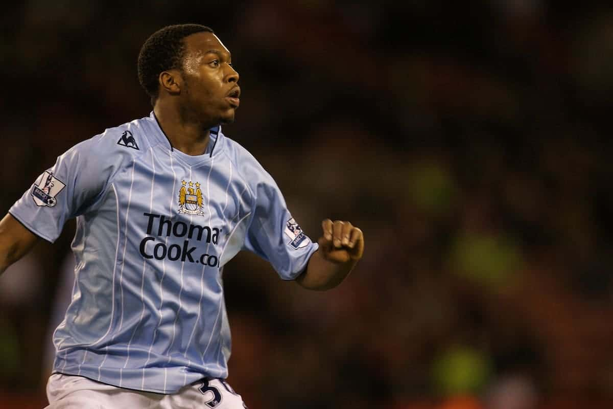 Manchester City's Daniel Sturridge on his debut during the FA Cup 4th Round match against Sheffield United at Bramall Lane. (Photo by David Rawcliffe/Propaganda)