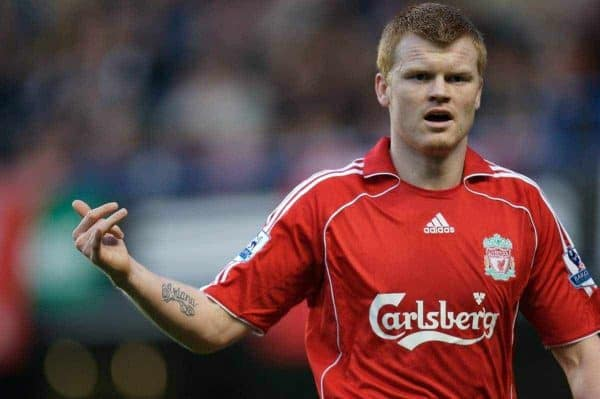 LONDON, ENGLAND - Sunday, February 10, 2008: Liverpool's John Arne Riise in action against Chelsea during the Premiership match at Stamford Bridge. (Photo by David Rawcliffe/Propaganda)
