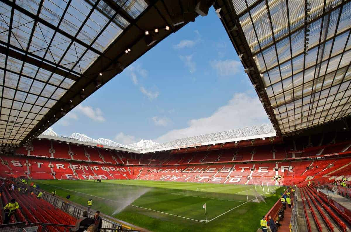 MANCHESTER, ENGLAND - Saturday, March 14, 2009: A general view of Manchester United's Old Trafford stadium before the Premiership match against Liverpool at Old Trafford. (Photo by David Rawcliffe/Propaganda)