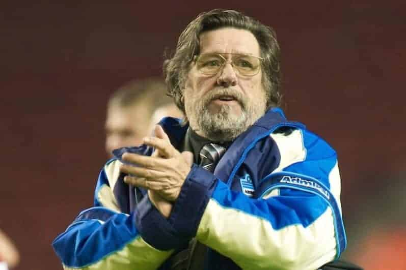 All Stars' manager Ricky Tomlinson during the Hillsborough Memorial Charity Game at Anfield. (Photo by David Rawcliffe/Propaganda)