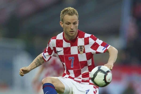 Croatia's Ivan Rakitic in action against Wales during the International Friendly match at the Stadion Gradski Vrt. (Pic by David Rawcliffe/Propaganda)