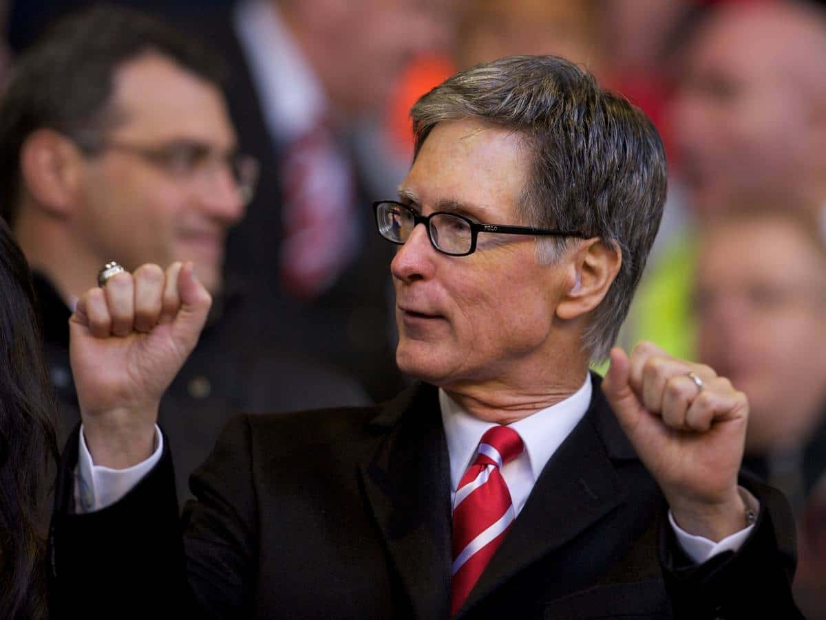 LIVERPOOL, ENGLAND - Sunday, November 7, 2010: Liverpool's owner John W. Henry during the Premiership match against Chelsea at Anfield. (Photo by David Rawcliffe/Propaganda)