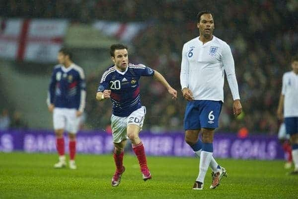 LONDON, ENGLAND - Wednesday, November 17, 2010: France's Mathieu Valbuena in action against England during the International Friendly match at Wembley Stadium. (Pic by: David Rawcliffe/Propaganda)