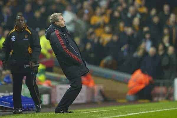 LIVERPOOL, ENGLAND - Wednesday, December 29, 2010: Liverpool's manager Roy Hodgson during the Premiership match against Wolverhampton Wanderers at Anfield. (Photo by: David Rawcliffe/Propaganda)