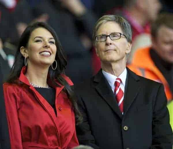 LIVERPOOL, ENGLAND - Sunday, January 16, 2011: Liverpool's owner John W. Henry and wife Linda Pizzuti before the Premiership match against Everton at Anfield. (Photo by: David Rawcliffe/Propaganda)