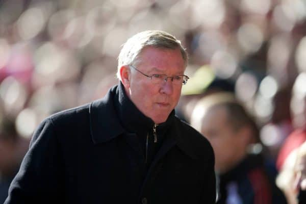 LIVERPOOL, ENGLAND - Sunday, March 6, 2011: Manchester United's manager Alex Ferguson before the Premiership match against Liverpool at Anfield. (Photo by David Rawcliffe/Propaganda)