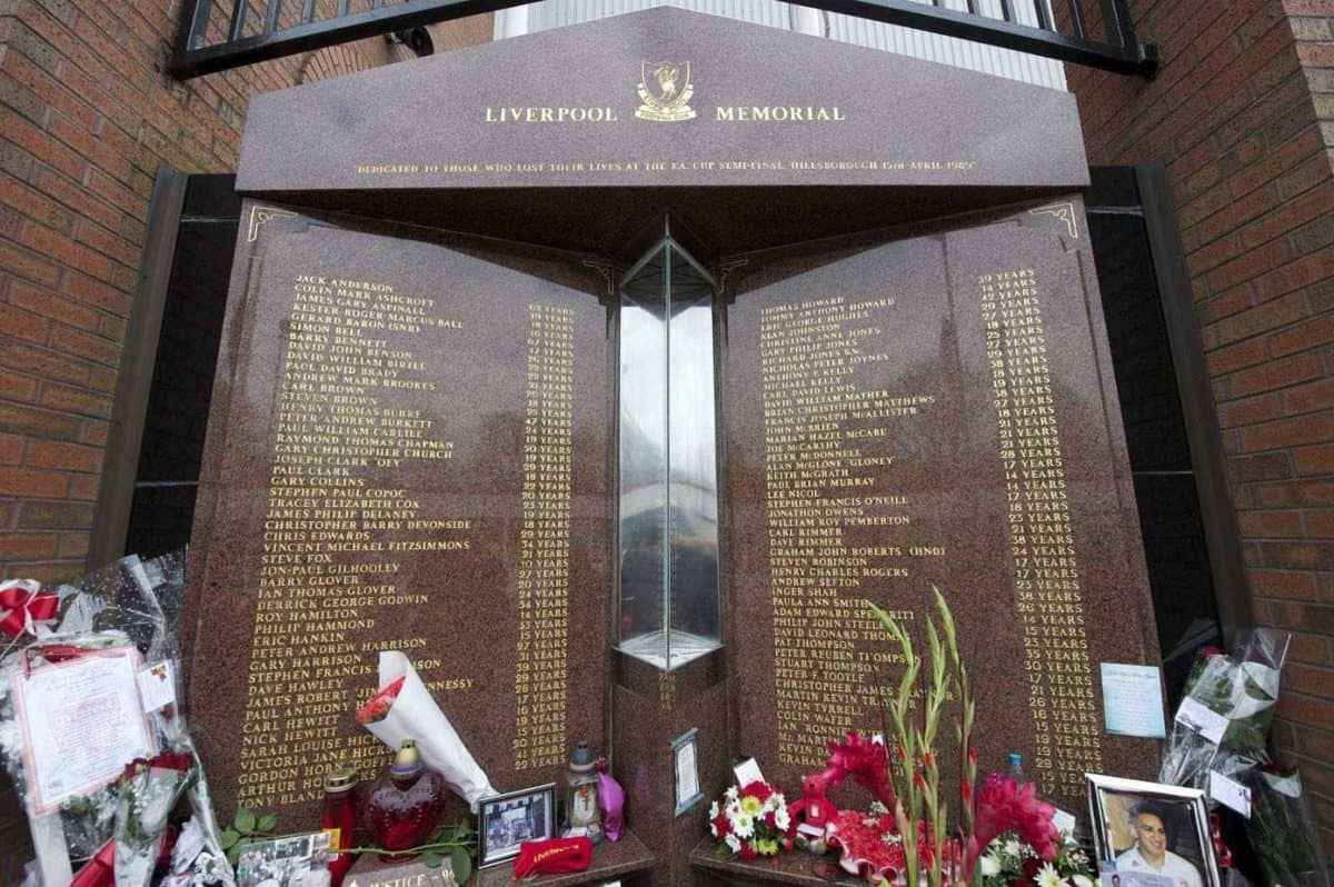 LIVERPOOL, ENGLAND - Friday, April 15, 2011: Floral tributes left at the eternal flame at the Memorial Service to remember the 96 victims of the Hillsborough Stadium Disaster in 1989. (Photo by David Rawcliffe/Propaganda)