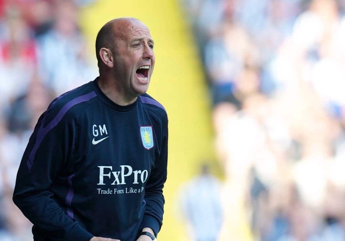 WEST BROMWICH, ENGLAND - Saturday, April 30, 2011: Aston Villa's assistant manager Gary McAllister during the Premiership match against West Bromwich Albion at the Hawthorns. (Photo by David Rawcliffe/Propaganda)