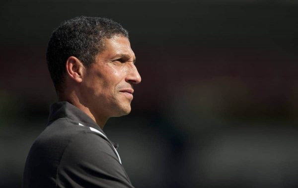 BIRMINGHAM, ENGLAND - Saturday, July 30, 2011: Birmingham City's new manager Chris Hughton during a preseason friendly match against Everton at St Andrews. (Photo by David Rawcliffe/Propaganda)