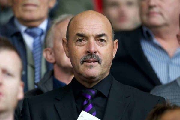 LIVERPOOL, ENGLAND - Saturday, September 24, 2011: Liverpool's former goalkeeper Bruce Grobbelaar in the stands before the Premiership match against Wolverhampton Wanderers at Anfield. (Pic by David Rawcliffe/Propaganda)