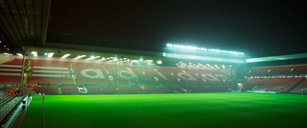 LIVERPOOL, ENGLAND - Friday, December 30, 2011: A general view of Liverpool's Anfield stadium before the Premiership match Newcastle United at Anfield. (Pic by David Rawcliffe/Propaganda)