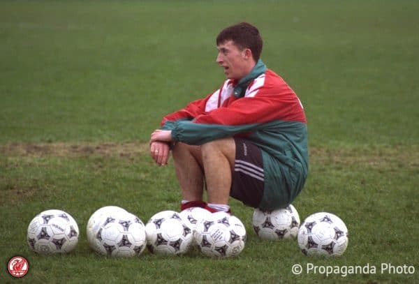 Liverpool's Robbie Fowler at the club's Melwood Training Ground. (Pic by David Rawcliffe/Propaganda).