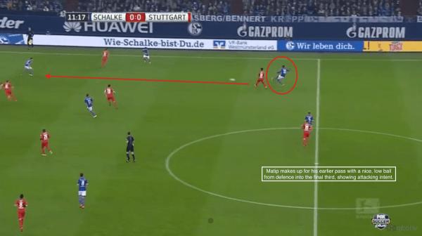 12' - Matip progressive pass vs. Stuttgart
