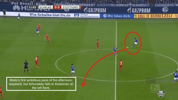12' - Matip wayward pass vs. Stuttgart