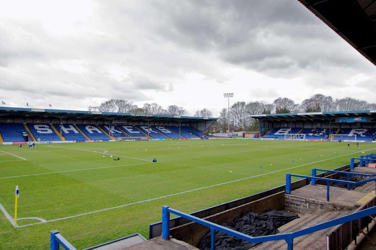 BURY, ENGLAND - Saturday, March 31, 2012: A general view of Gigg Lane before the Football League One match between Bury and Tranmere Rovers. (Pic by Vegard Grott/Propaganda)