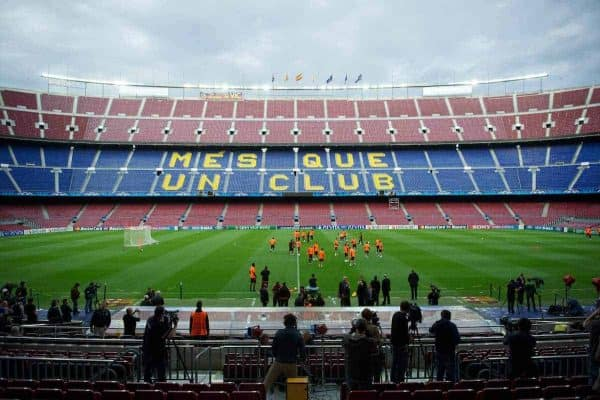 BARCELONA, SPAIN - Monday, April 23, 2012: Chelsea's players during a training session at the Camp Nou ahead of the UEFA Champions League Semi-Final 2nd Leg match against FC Barcelona. (Pic by David Rawcliffe/Propaganda)