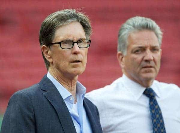 BOSTON, MA - Tuesday, July 24, 2012: Liverpool's owner John W. Henry during a training session at Fenway Park, home of the Boston Red Sox, ahead of their second preseason match of the North American tour, against AS Roma. (Pic by David Rawcliffe/Propaganda)