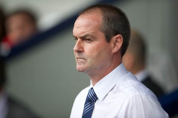 WEST BROMWICH, ENGLAND - Saturday, August 18, 2012: West Bromwich Albion's manager Steve Clarke during the opening Premiership match of the season against Liverpool at the Hawthorns. (Pic by David Rawcliffe/Propaganda)