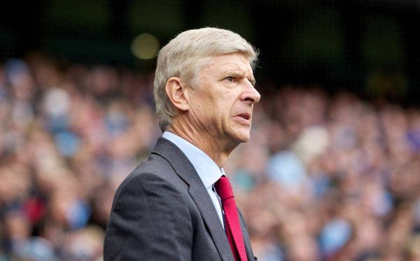 MANCHESTER, ENGLAND - Sunday, September 23, 2012: Arsenal's manager Arsène Wenger before the Premiership match against Manchester City at the City of Manchester Stadium. (Pic by Vegard Grott/Propaganda)