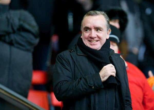 LIVERPOOL, ENGLAND - Sunday, January 5, 2014: Liverpool's Managing Director Ian Ayre during the FA Cup 3rd Round match against Oldham Athletic at Anfield. (Pic by David Rawcliffe/Propaganda)