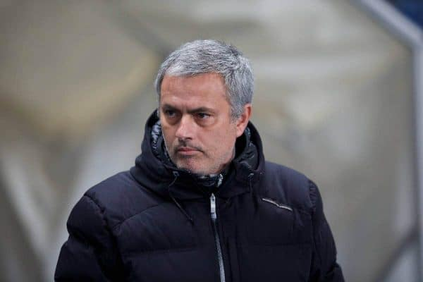 MANCHESTER, ENGLAND - Monday, February 3, 2014: Chelsea's manager Jose Mourinho before the Premiership match against Manchester City at the City of Manchester Stadium. (Pic by David Rawcliffe/Propaganda)