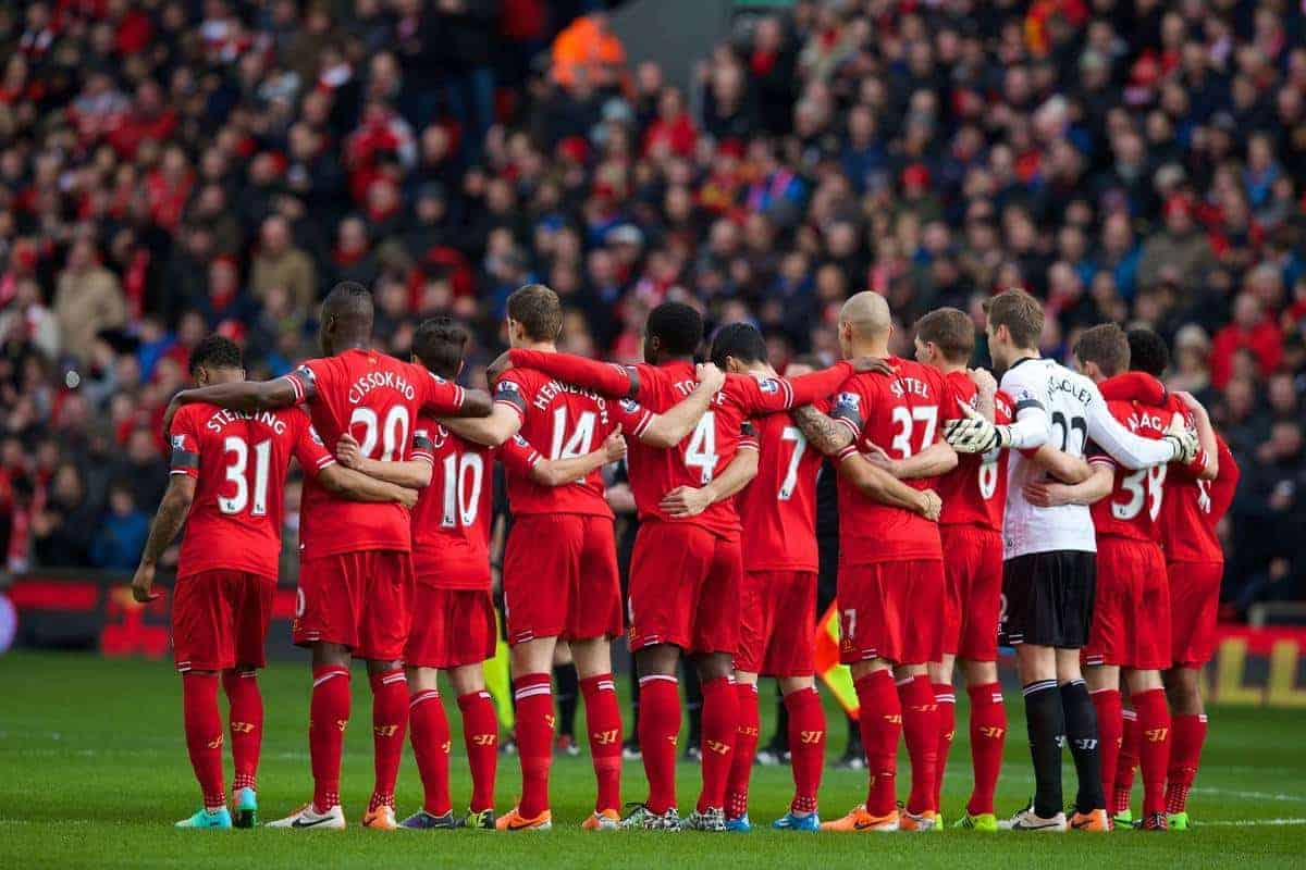 Liverpool team photo 2013/2014: Luis Suarez and Daniel Sturridge ...