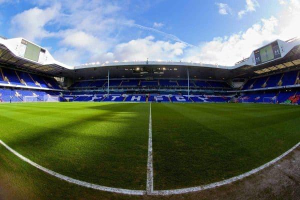 Tottenham Hotspur's White Hart Lane Stadium before the Premiership match against Everton. (Pic by David Rawcliffe/Propaganda)