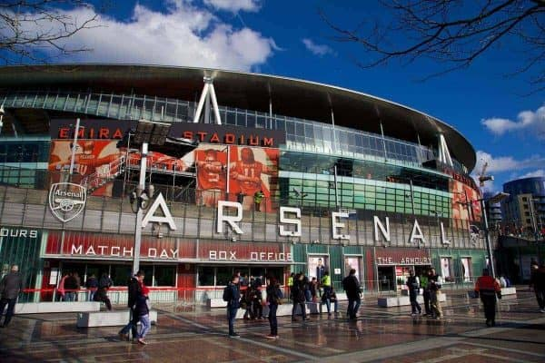 LONDON, ENGLAND - Sunday, February 16, 2014: Arsenal's Emirates Stadium before the FA Cup 5th Round match between Arsenal and Liverpool. (Pic by David Rawcliffe/Propaganda)