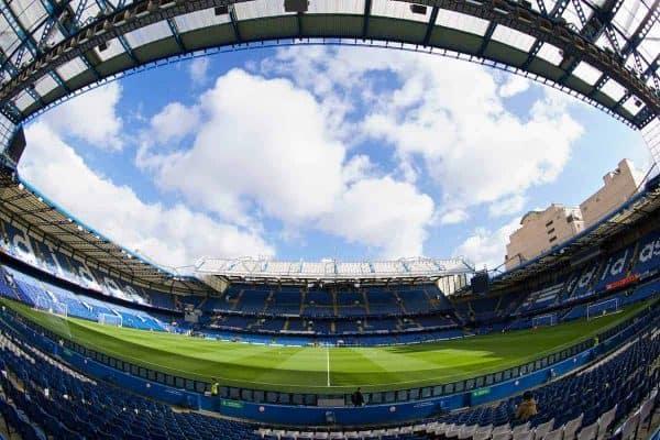 LONDON, ENGLAND - Saturday, February 22, 2014: A general view of Chelsea's Stamford Bridge. (Pic by David Rawcliffe/Propaganda)