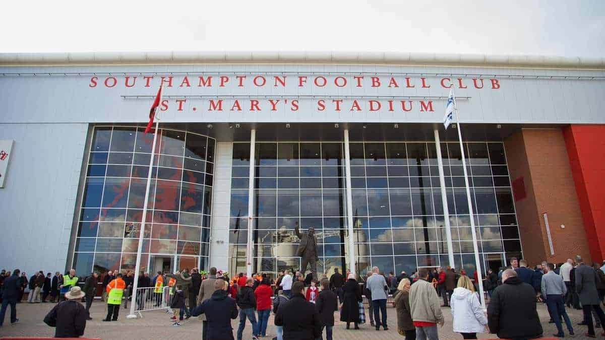 SOUTHAMPTON, ENGLAND - Saturday, March 1, 2014: Southampton's St. Mary's Stadium before the Premiership match against Liverpool. (Pic by David Rawcliffe/Propaganda)