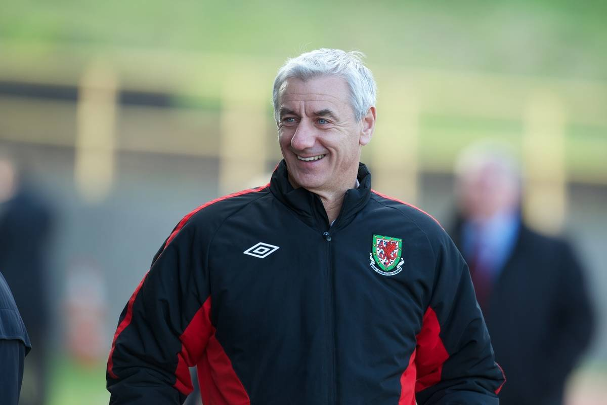 BARRY, WALES - Tuesday, April 30, 2013: Wales' Elite Performance Director Ian Rush during the Under-15's International Friendly match against Switzerland at Jenner Park. (Pic by David Rawcliffe/Propaganda)