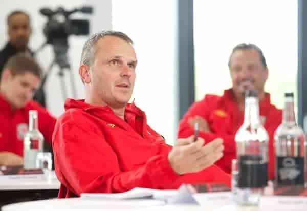 NEWPORT, WALES - Wednesday, May 22, 2013: Dietmar Hamann during the Football Association of Wales' UEFA Pro Licence Course 2013 at Dragon Park. (Pic by David Rawcliffe/Propaganda)