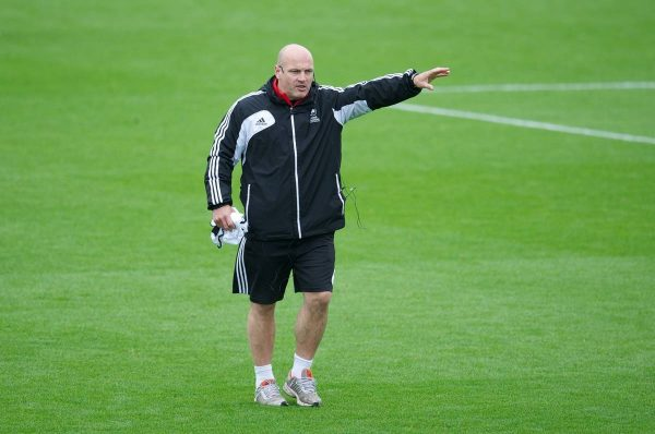 NEWPORT, WALES - Wednesday, May 22, 2013: Gary Brabin during the Football Association of Wales' UEFA Pro Licence Course 2013 at Dragon Park. (Pic by David Rawcliffe/Propaganda)