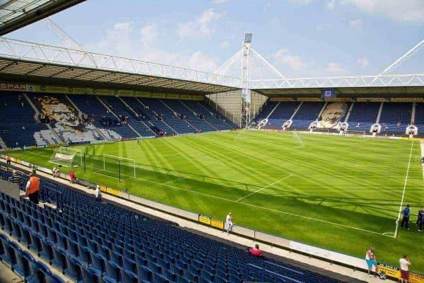 PRESTON, ENGLAND - Saturday, July 13, 2013: A general view of Preston North End's Deepdale before a preseason friendly match against Liverpool. (Pic by David Rawcliffe/Propaganda)