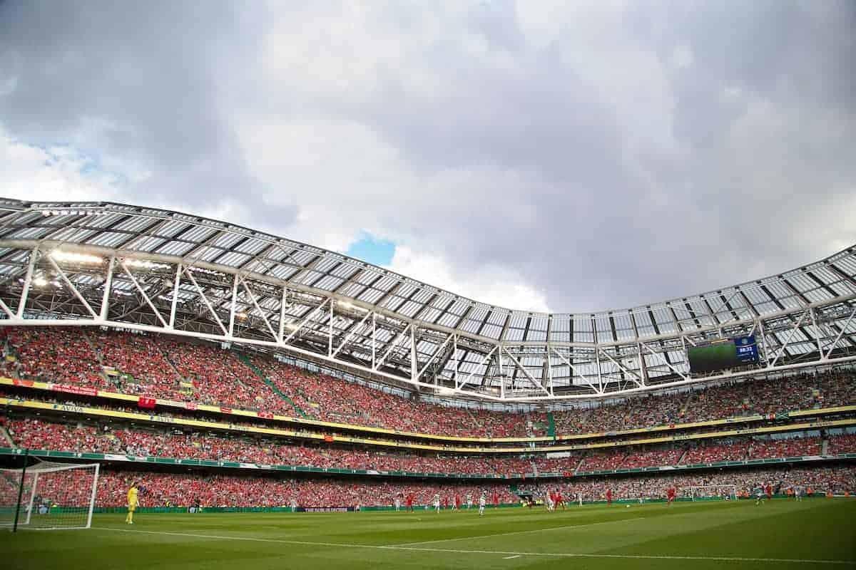 DUBLIN, REPUBLIC OF IRELAND - Saturday, August 10, 2013: Liverpool take on Glasgow Celtic during a preseason friendly match at the Aviva Stadium. (Pic by David Rawcliffe/Propaganda)
