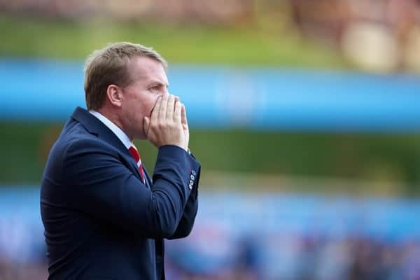 LIVERPOOL, ENGLAND - Saturday, August 24, 2013: Liverpool's manager Brendan Rodgers during the Premiership match against Aston Villa at Villa Park. (Pic by David Rawcliffe/Propaganda)
