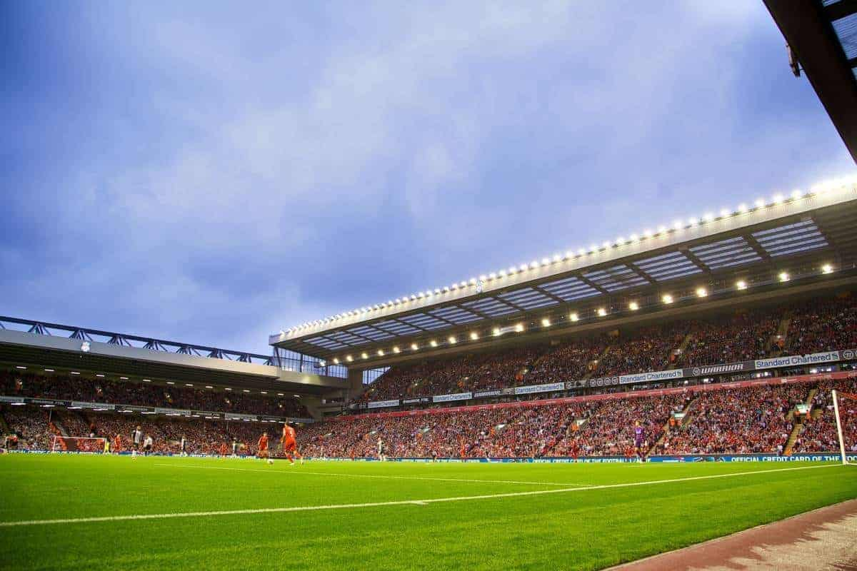 LIVERPOOL, ENGLAND - Tuesday, August 27, 2013: Liverpool take on Notts County during the Football League Cup 2nd Round match at Anfield. (Pic by David Rawcliffe/Propaganda) generic
