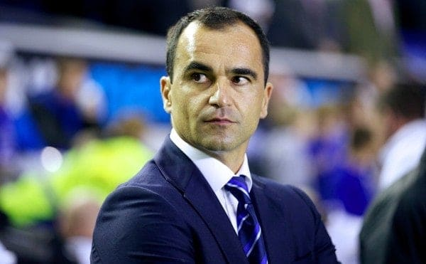 LIVERPOOL, ENGLAND - Monday, September 30, 2013: Everton's manager Roberto Martinez before the Premiership match against Newcastle United at Goodison Park. (Pic by David Rawcliffe/Propaganda)