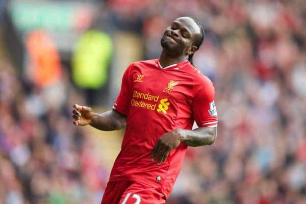 Liverpool's Victor Moses in action against Crystal Palace during the Premiership match at Anfield. (Pic by David Rawcliffe/Propaganda)