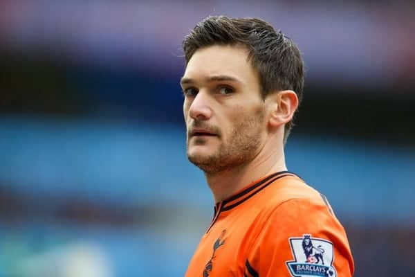 MANCHESTER, ENGLAND - Sunday, November 24, 2013: Tottenham Hotspur's goalkeeper Hugo Lloris in action against Manchester City during the Premiership match at the City of Manchester Stadium. (Pic by David Rawcliffe/Propaganda)