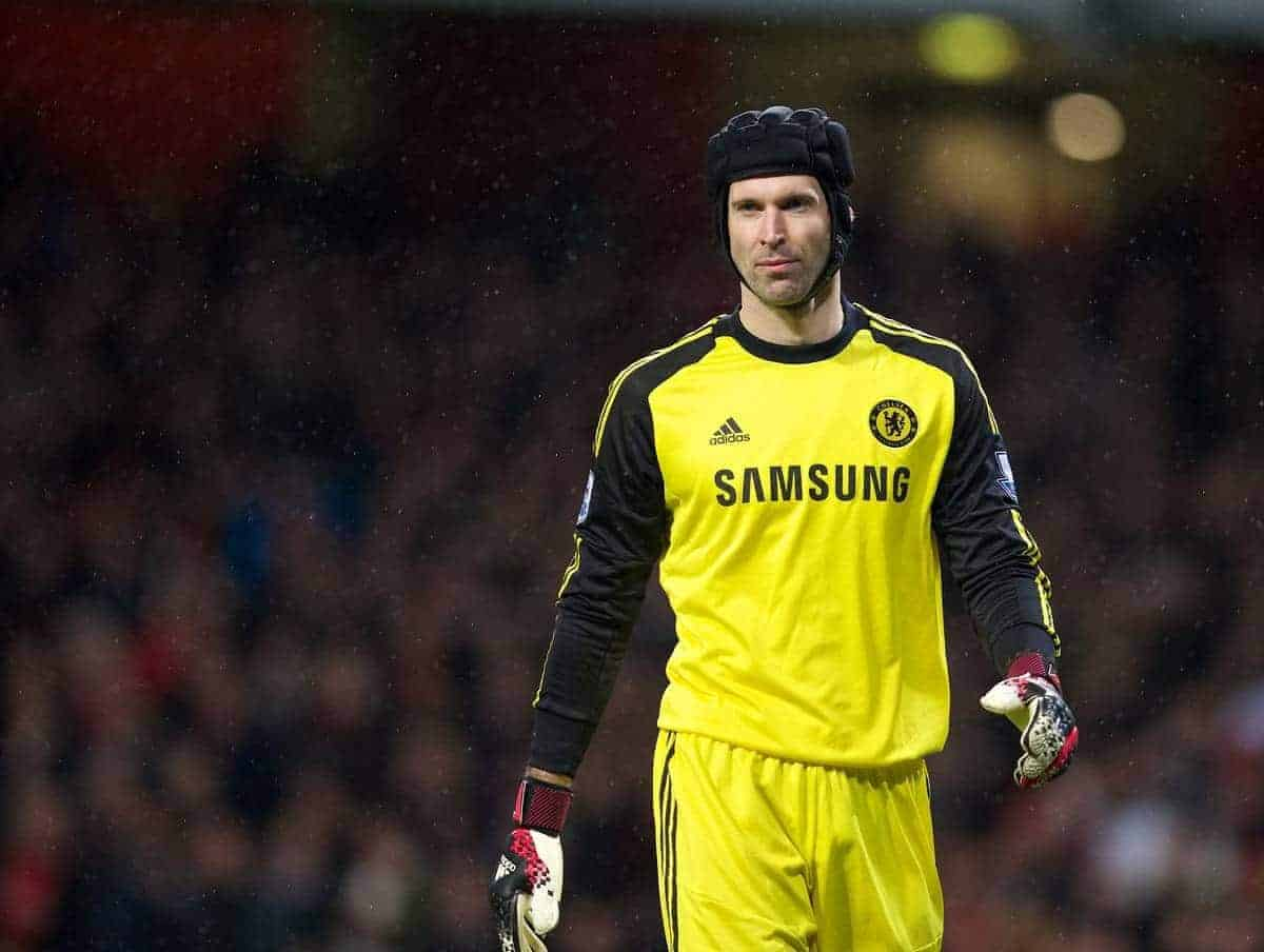 LONDON, ENGLAND - Monday, December 23, 2013: Chelsea's goalkeeper Petr Cech in action against Arsenal during the Premiership match at the Emirates Stadium. (Pic by David Rawcliffe/Propaganda)