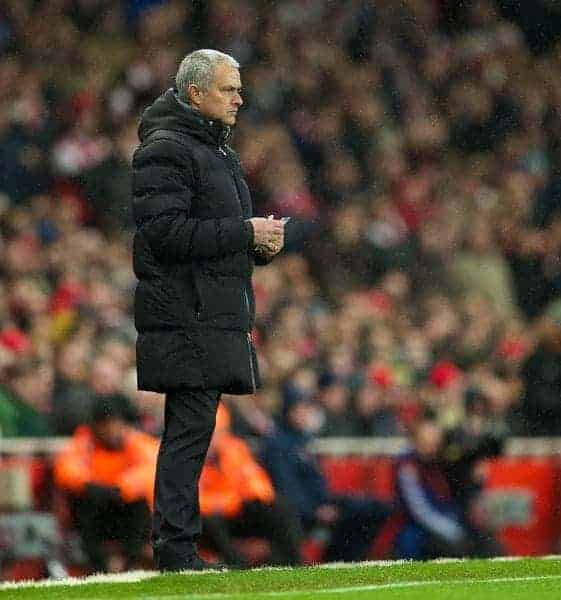 LONDON, ENGLAND - Monday, December 23, 2013: Chelsea's manager Jose Mourinho during the Premiership match against Arsenal at the Emirates Stadium. (Pic by David Rawcliffe/Propaganda)