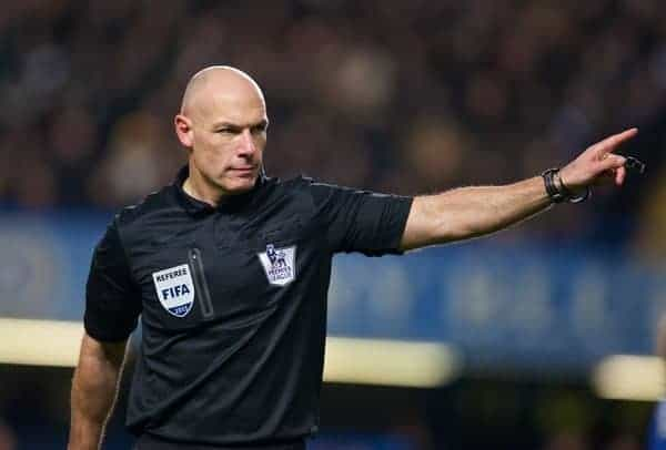 LONDON, ENGLAND - Sunday, December 29, 2013: Referee Howard Webb during the Premiership match between Chelsea and Liverpool at Stamford Bridge. (Pic by David Rawcliffe/Propaganda)
