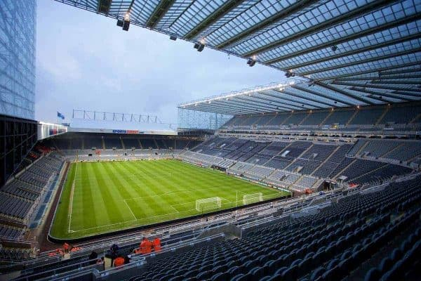 NEWCASTLE-UPON-TYNE, ENGLAND - Tuesday, March 25, 2014: A general view of St James' Park, home of Newcastle United, before the Premiership match against Everton. (Pic by David Rawcliffe/Propaganda)